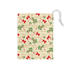 Christmas Paper Scrapbooking Drawstring Pouch (medium)