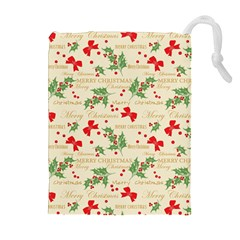 Christmas Paper Scrapbooking Drawstring Pouch (xl)