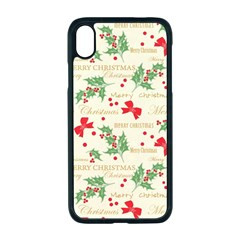 Christmas Paper Scrapbooking Apple Iphone Xr Seamless Case (black)
