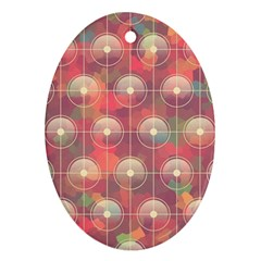 Colorful Background Abstract Oval Ornament (two Sides)
