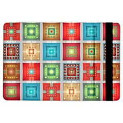Tiles Pattern Background Colorful Ipad Air 2 Flip