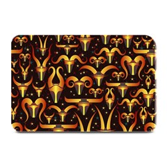 Stylised Horns Black Pattern Plate Mats