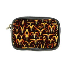 Stylised Horns Black Pattern Coin Purse