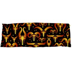 Stylised Horns Black Pattern Body Pillow Case Dakimakura (two Sides)