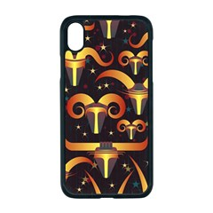 Stylised Horns Black Pattern Apple Iphone Xr Seamless Case (black)