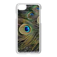 Peacock Tail Feathers Close Up Apple Iphone 7 Seamless Case (white) by Pakrebo