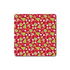 Christmas Paper Scrapbooking Pattern Square Magnet