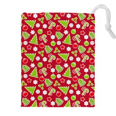 Christmas Paper Scrapbooking Pattern Drawstring Pouch (xxl)
