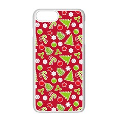 Christmas Paper Scrapbooking Pattern Apple Iphone 7 Plus Seamless Case (white)