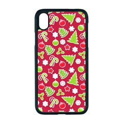 Christmas Paper Scrapbooking Pattern Apple Iphone Xr Seamless Case (black)