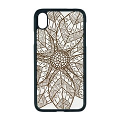 Flower Mandala Christmas Xmas Apple Iphone Xr Seamless Case (black)