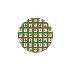 Christmas Paper Christmas Pattern Golf Ball Marker (10 Pack)