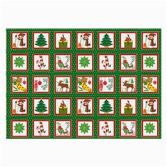 Christmas Paper Christmas Pattern Large Glasses Cloth (2 Side) by Pakrebo