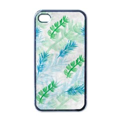 Pattern Feather Fir Colorful Color Apple Iphone 4 Case (black) by Pakrebo