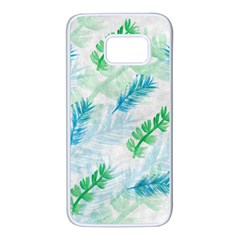 Pattern Feather Fir Colorful Color Samsung Galaxy S7 White Seamless Case