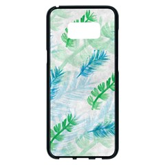 Pattern Feather Fir Colorful Color Samsung Galaxy S8 Plus Black Seamless Case