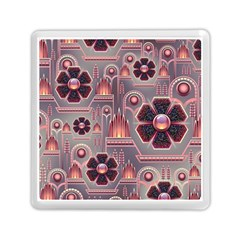 Background Floral Flower Stylised Memory Card Reader (square)