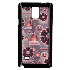 Background Floral Flower Stylised Samsung Galaxy Note 4 Case (black)