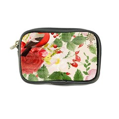 Christmas Bird Floral Berry Coin Purse