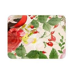 Christmas Bird Floral Berry Double Sided Flano Blanket (mini)