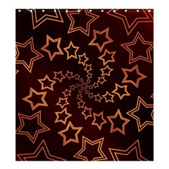 Gold Stars Spiral Chic Background Shower Curtain 66  X 72  (large)