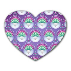 Background Floral Pattern Purple Heart Mousepads