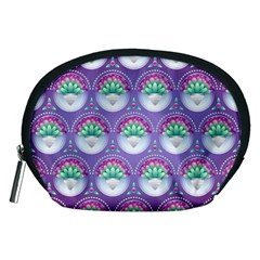 Background Floral Pattern Purple Accessory Pouch (medium)