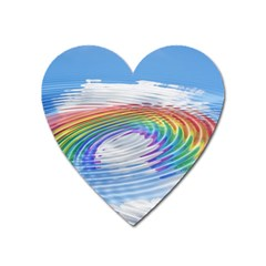 Rainbow Clouds Intimacy Intimate Heart Magnet