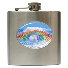 Rainbow Clouds Intimacy Intimate Hip Flask (6 Oz)