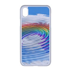 Rainbow Clouds Intimacy Intimate Apple Iphone Xr Seamless Case (white)