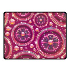 Abstract Background Floral Glossy Fleece Blanket (small) by Pakrebo