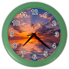 Sunset Dawn Sea Sun Nature Color Wall Clock