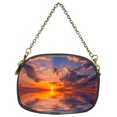 Sunset Dawn Sea Sun Nature Chain Purse (two Sides)