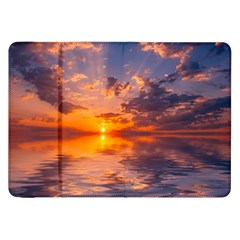 Sunset Dawn Sea Sun Nature Samsung Galaxy Tab 8 9  P7300 Flip Case by Pakrebo