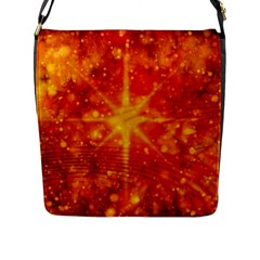 Christmas Star Snow Snowfall Flap Closure Messenger Bag (l) by Pakrebo