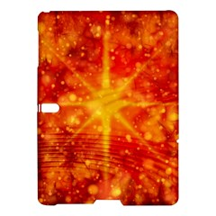 Christmas Star Snow Snowfall Samsung Galaxy Tab S (10 5 ) Hardshell Case  by Pakrebo
