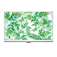 Leaves Green Pattern Nature Plant Business Card Holder