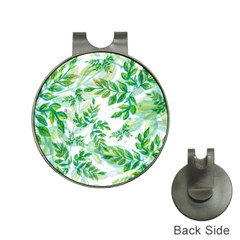 Leaves Green Pattern Nature Plant Hat Clips With Golf Markers