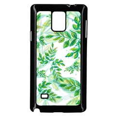 Leaves Green Pattern Nature Plant Samsung Galaxy Note 4 Case (black)