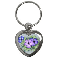 Flowers Vector Illustration Figure Key Chains (heart)