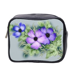 Flowers Vector Illustration Figure Mini Toiletries Bag (two Sides)