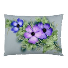 Flowers Vector Illustration Figure Pillow Case (two Sides)