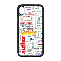 Writing Author Motivation Words Apple Iphone Xr Seamless Case (black)