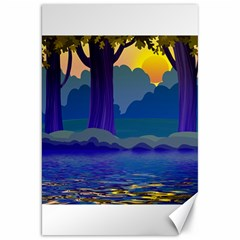 Illustration Vector Forest Nature Canvas 20  X 30