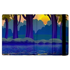 Illustration Vector Forest Nature Apple Ipad Pro 12 9   Flip Case