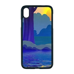 Illustration Vector Forest Nature Apple Iphone Xr Seamless Case (black)