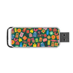 Presents Gifts Background Colorful Portable Usb Flash (one Side)