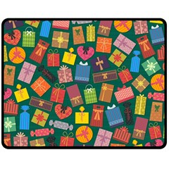 Presents Gifts Background Colorful Double Sided Fleece Blanket (medium)