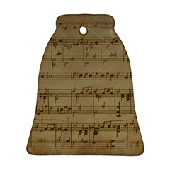 Vintage Sheet Music Background Bell Ornament (two Sides)