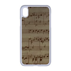 Vintage Sheet Music Background Apple Iphone Xr Seamless Case (white)